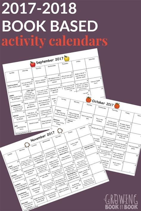chef 2018 calendar books 2017 2018 book based activity calendars