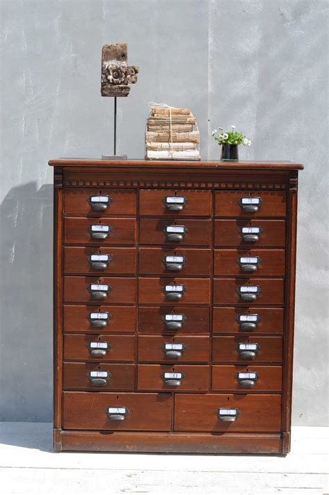 Multi Drawer Cabinet Wood multi drawer wood filing cabinet home barn vintage