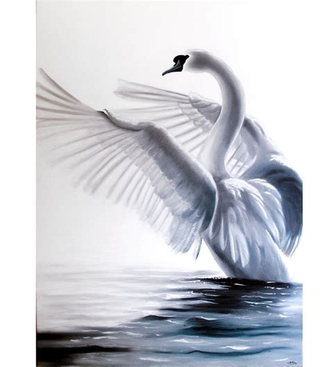 cuadros de cisnes estudio delier cuadro cisne oleo