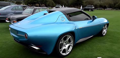 new alfa romeo disco volante blue alfa romeo disco volante spyder looks stunning at