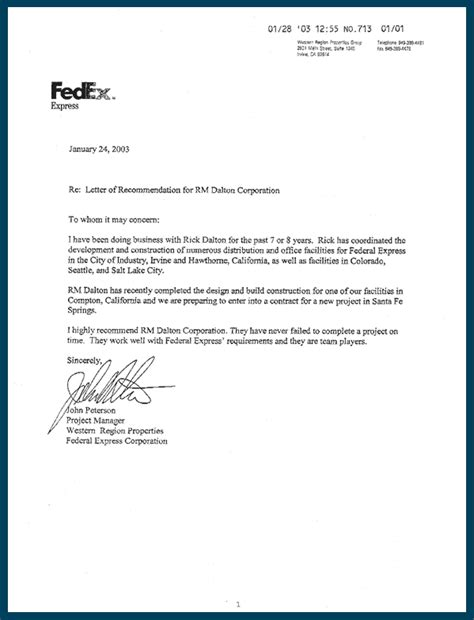 Business Letter Format Via Fedex Usa Cover Letter Address