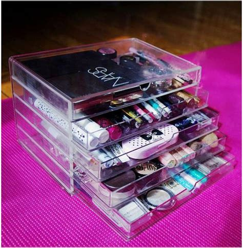 Acrylic Makeup Organizer 5 Drawer by Acrylic Makeup Cosmetic Jewelry Organizer 5 Drawer Clear
