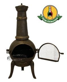 chiminea ash catcher hton bay cast iron chiminea 54 in wood burning outdoor