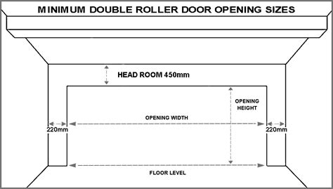 Single Garage Dimensions standard garage door sizes single amp double roller doors