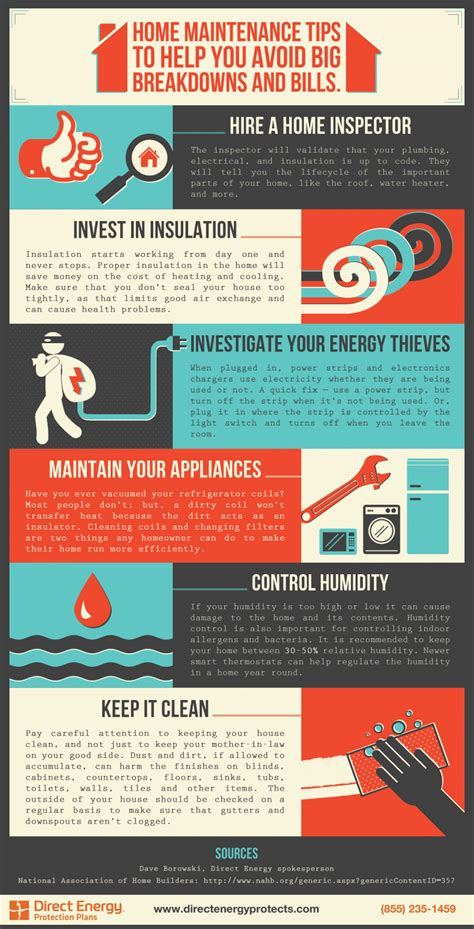 home maintenance tips visual ly