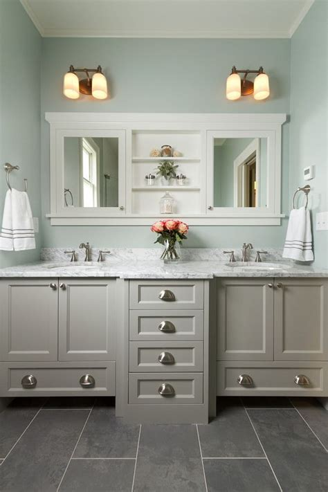 Bathroom Floor Wall Color Schemes Best 25 Grey Bathroom Cabinets Ideas On Grey