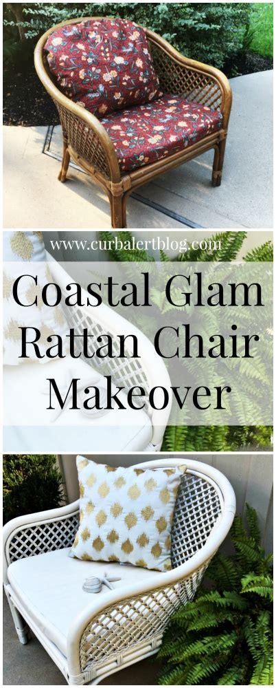 Help Me Find Bglam by Curb Alert Coastal Glam Rattan Chair Makeover