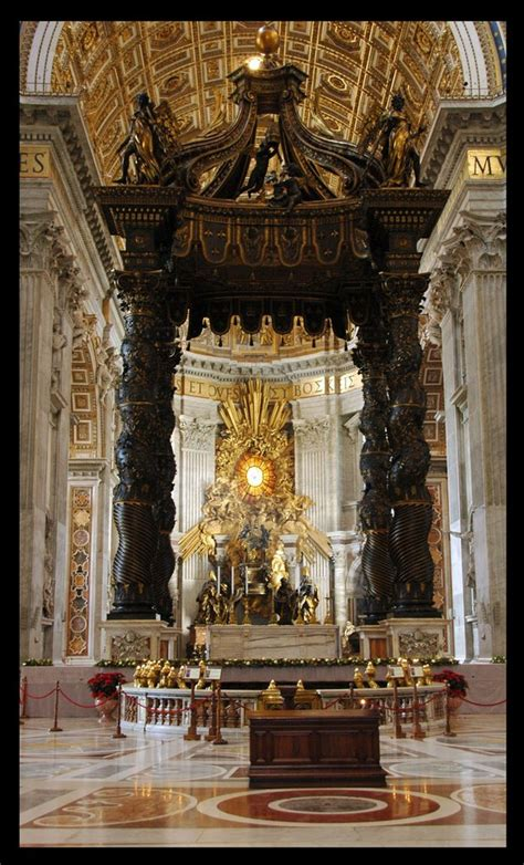 baldacchino by bernini panoramio photo of bernini s baldacchino st s