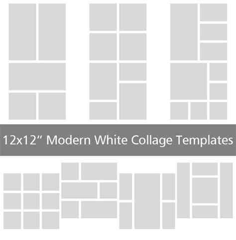 10 modern 12x12 collage templates discovery center store