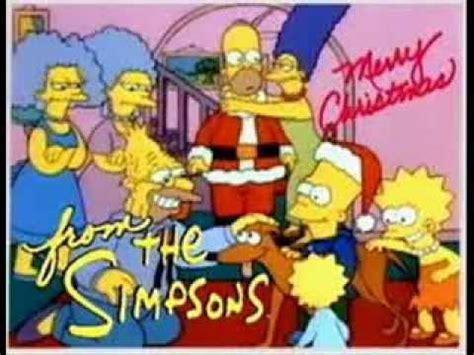 simpsons christmas merry christmas youtube
