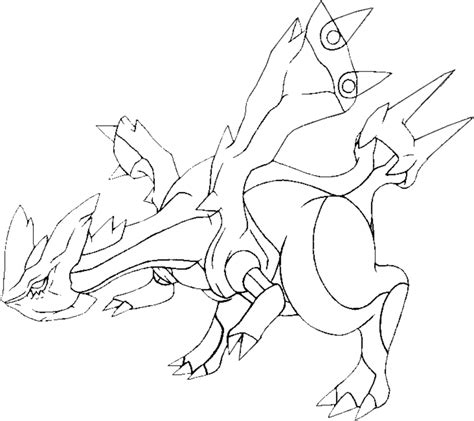 pokemon coloring pages black kyurem free pokemon kyurem coloring pages