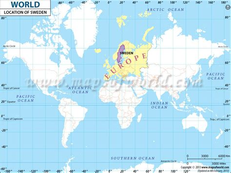 sweden on a world map where is sweden location of sweden