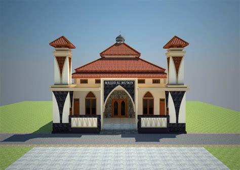 Contoh Gambar Desain Masjid Minimalis Dan Modern   Review