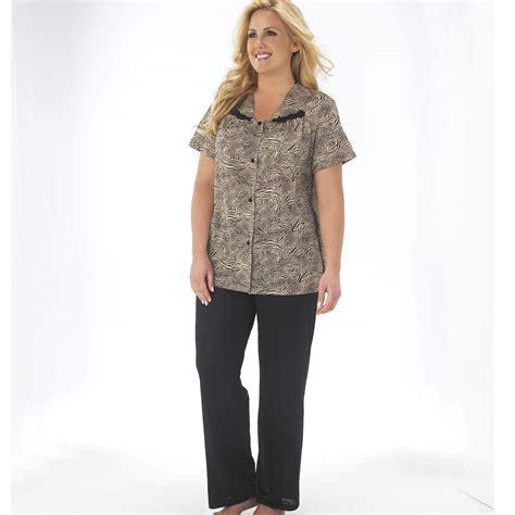 vanity fair s sleeve pajama set clothing