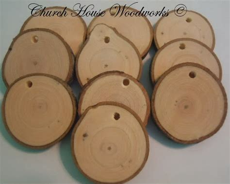 how to make wooden ornaments church house collection diy wood slice
