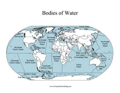 map of usa bodies of water this printable world map labels all of the major bodies of