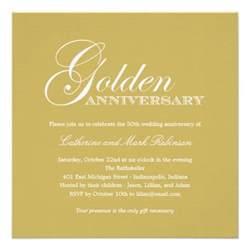 golden wedding anniversary invitation 5 25 quot square invitation card zazzle
