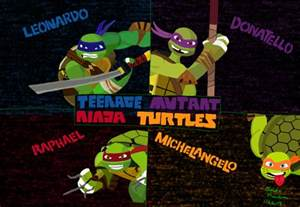 tmnt names colors 2012 mutant turtles bg colored by