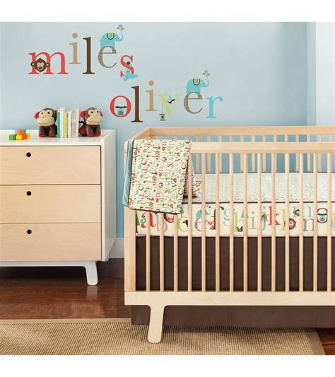 Alphabet Crib Bedding by Skip Hop Alphabet 4 Crib Bedding Set With Wall Decals