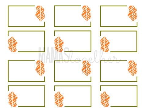 Free Place Card Templates For Thanksgiving by Mamas Together Thanksgiving Place Card Printables Diy