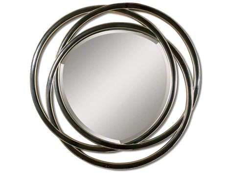 Uttermost Oralist Mirror Uttermost Odalis 48 X 48 Entwined Circles Black Wall