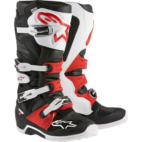 motocross boots alpinestars alpinestars 2017 mx tech 7 dirt bike white black