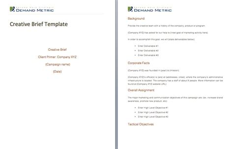 design brief online creative brief template a template to communicate with