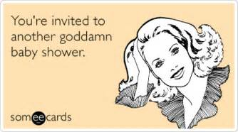 invited another god damn baby shower pregnancy ecard pregnancy ecard