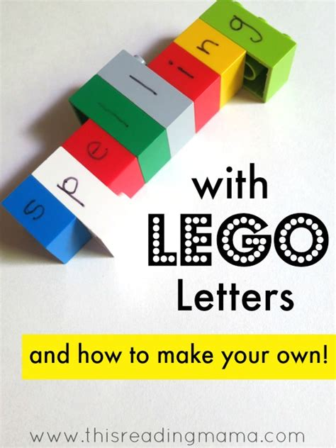Spelling In Letters Spelling With Lego Letters And How To Make Your Own