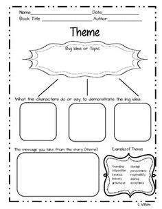 theme exles 4th grade teaching theme free graphic organizer 5th grade