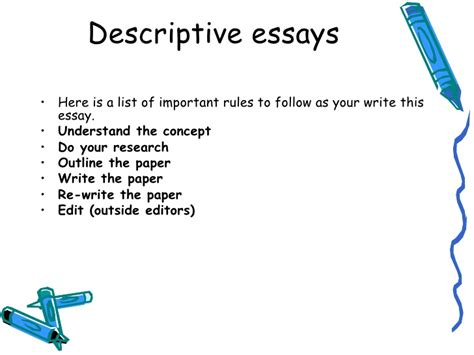 Outline Descriptive Essay by Do Outline Descriptive Essay