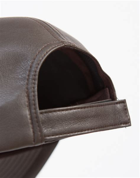 sporty leather baseball cap sporty caps faux leather