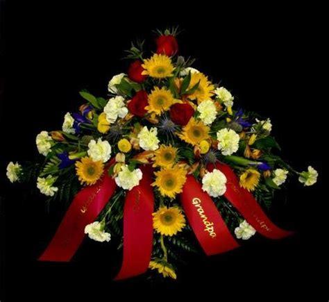 Sprei Sun Flower sunflower casket spray kaufman s sympathy designs