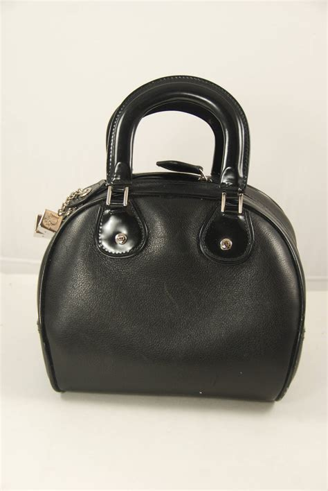 Bowling Style Bag by Black Bowling Style Bag With Dice Charms At 1stdibs