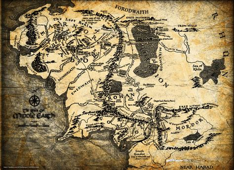 map middle earth wallpaper lord of the rings map jrr tolkien