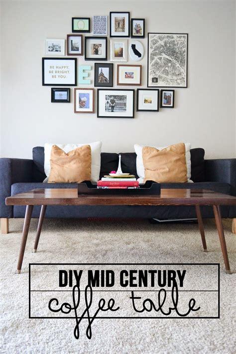 mid century modern coffee table diy diy mid century coffee table home diy pinterest