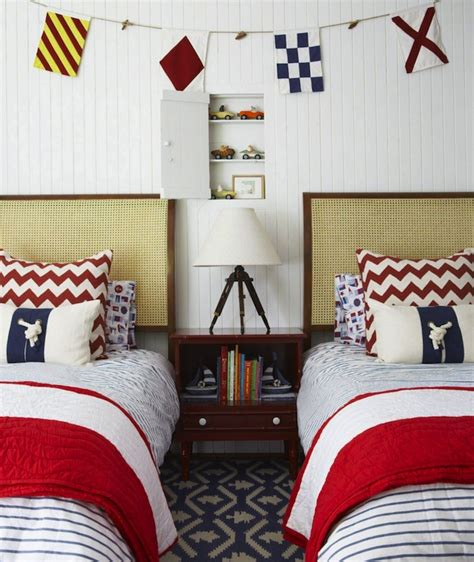 classic red and blue boys bedroom boys bedroom ideas nautical boys room cottage boy s room anne hepfer