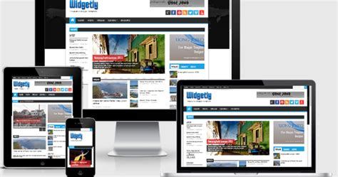 widgetly responsive blogger template