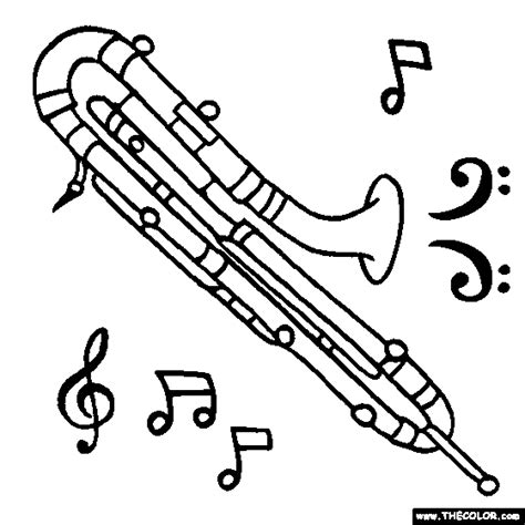 beautiful trombone coloring page pictures printable