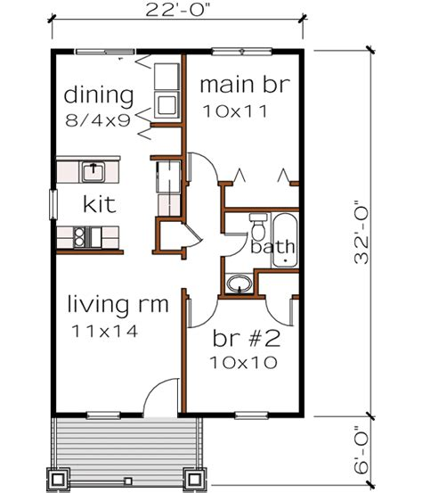 2 bedroom bungalow house floor plans bungalow house plan 2 bedrooms 1 bath 704 sq ft plan