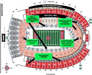 Ohio State Stadium Map by Osu Stadium Map Pictures To Pin On Pinterest Pinsdaddy