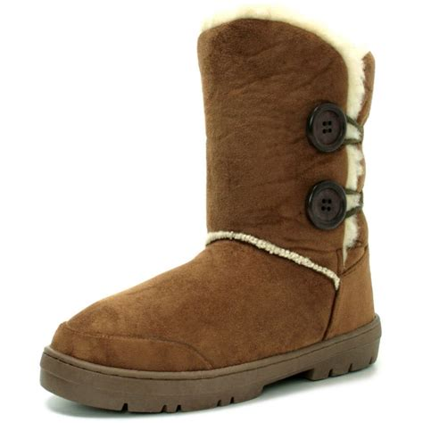 style boots womens chestnut suede fur sheepskin style ankle boots