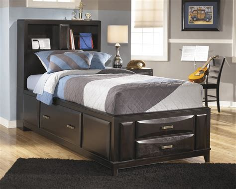 twin storage headboard furniture knie appliance and tv inc