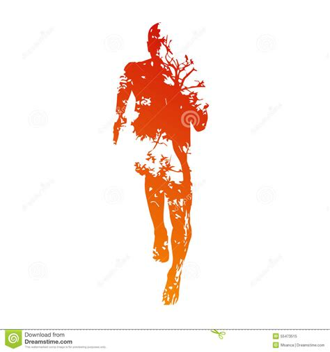 Abstract For Fitness Running 1 abstract vector runner stock vector image 55473515