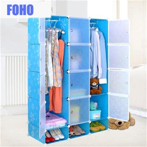 diy assemble plastic portable closet wardrobe cabinet