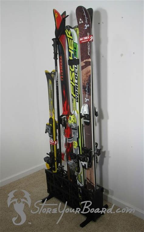 Freestanding Ski Rack by Freestanding Wooden Ski Rack