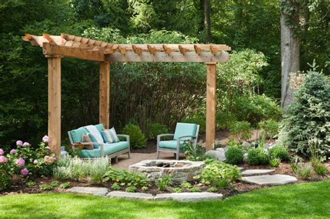 small backyard pergola 42 backyard and patio fire pit ideas