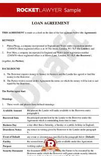Lending Money Contract Template Free by Loan Agreement Loan Contract Loan Agreement Template