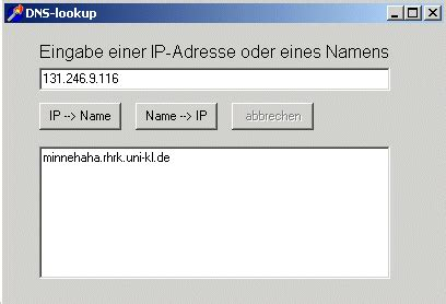 Php Dns Lookup Informatik Netze Programme