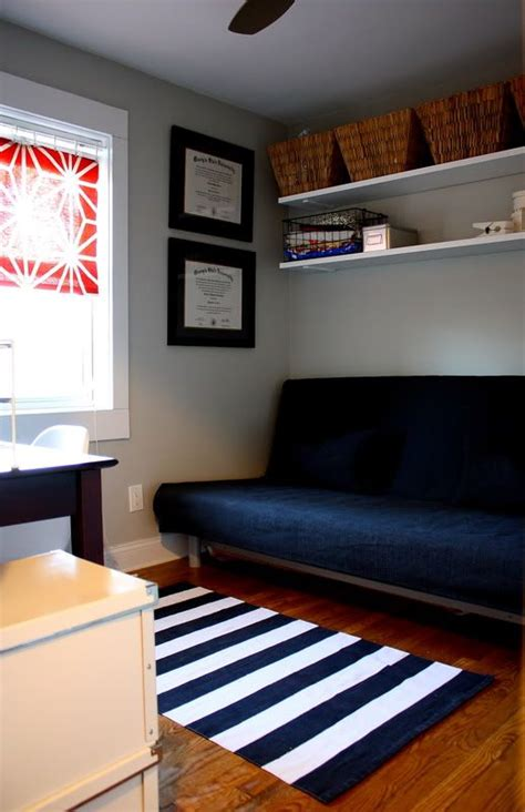 futon bedroom ideas ikea hack disassemble a bookshelf and hang the boards on
